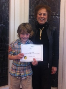 Olivier Ouellet | 89 & 89: Junior Vocal 8 Years & Under (With his teacher, Mrs. Leola Dionne.)