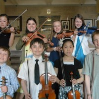 Saint John & Area School Strings | Gold: After School Class Level 1A (Back Seongeun Cho, Jordan Hume, Amy LeBlanc, Emily Barton; Front (l-r) Joseph Desmond, Matthew Harquail, Stacey Situ, Patrick McGrath)
