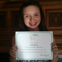 Ashley Bishop received a mark of 94 in 12 years and under Vocal Sight Reading
