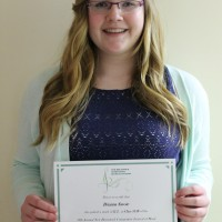 Brianna Savoie received a mark of 89 in 13 years and under Vocal
