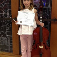 Julia Monroe received a mark of 89 in Cello Own Choice Preparatory