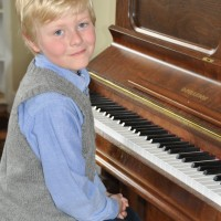 Matthew Way received a Gold in 8 years and under Piano