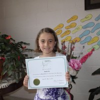 Sarah Orr received a mark of 90 in 7 years and under Piano