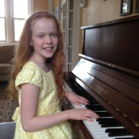 Sophie Baker received a mark of 90 in 11 years and under Piano