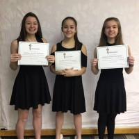 Abby Macgillivray, Tara Scott and Lydia Buckley received a mark of 90 in class 735 - Own Choice - Beginner Woodwind Ensemble.