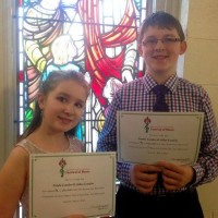 Aidan London and Natalie London received a mark of 90 in class 352 - Vocal Duet - Own Choice - 14 years and under.