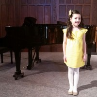 Annabelle Ramsay Received a Gold Seal in Class 306B - Vocal - Own Choice - 6 years and under