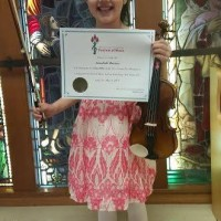 Annabelle Ramsay received a Gold Seal in class 600A - Violin - Own Choice - Preparatory.