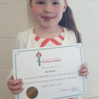Ava Power received a Gold Seal in Class Class 307C - Vocal - 7 years and under.