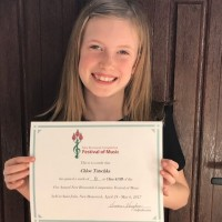 Chloe Tutschka received a mark of 90 in Class 410B - Piano - Own Choice List B – 10 years and under.