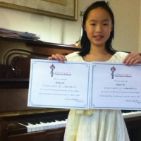 Emma Xu received a mark of 90 in class 410D - Piano - Own Choice - 10 years and under.
