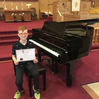 Gavin Steeves received a Gold Seal in class 408C - Piano - Own Choice - Northern Lights Pre A or Pre B - 8 years and under.