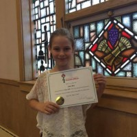 Julia Shea received a Gold seal in class 408C - Piano - Own Choice - Northern Lights Pre A or Pre B – 8 years and under.
