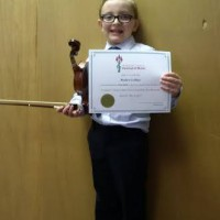 Matthew LeBlanc received a Gold Seal in class 600A - Violin - Own Choice - Preparatory.