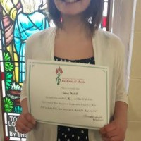 Sarah Bedell received a mark of 90 in class 311E - Voice - Sacred - Popular - 11 years and under.