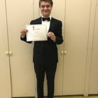 Shane Scott received a mark of 90 in class 317E Vocal - 17 years and under - French Art Song